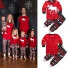 New Kids Baby  Reindeer Christmas Pyjamas Casual Cartoon Nightwear Sleepwear Set
