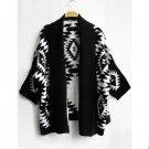 Sale Women Casual Oversized Knit Sleeve Sweater Coat Knitwear Cardigan Jacket