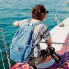 Women Unisex Fashion Denim Travel Backpack School bag Rucksack Casual Retro 2016