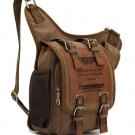 Mens Vintage Canvas Leather Satchel Shoulder Messenger Rucksack Bags Durable Hot