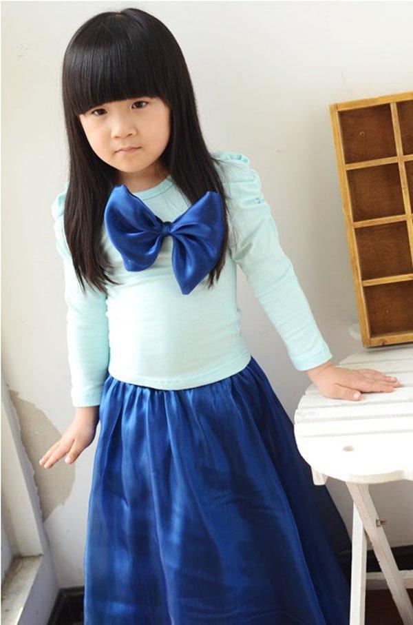 Fashion Kids Baby Girls Toddler Shirt Dress + Keen Dress Set Clothes Terrific
