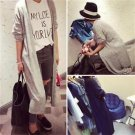 Women Long Sleeve Knitted Cardigan Coat Outwear Casual Loose Sweater Windbreaker