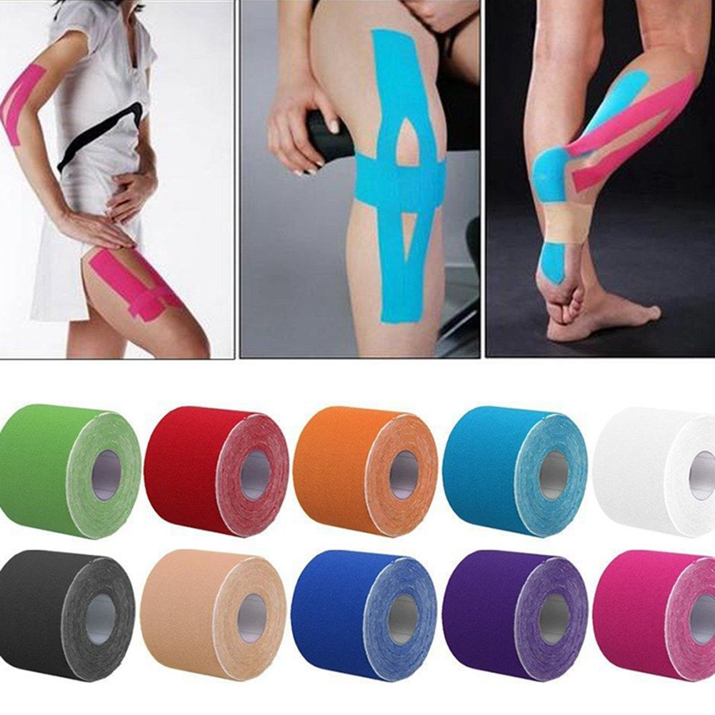 1 Roll 5m x 5cm Kinesiology Sports Tape Muscles Care Elastic Physio Therapeutic
