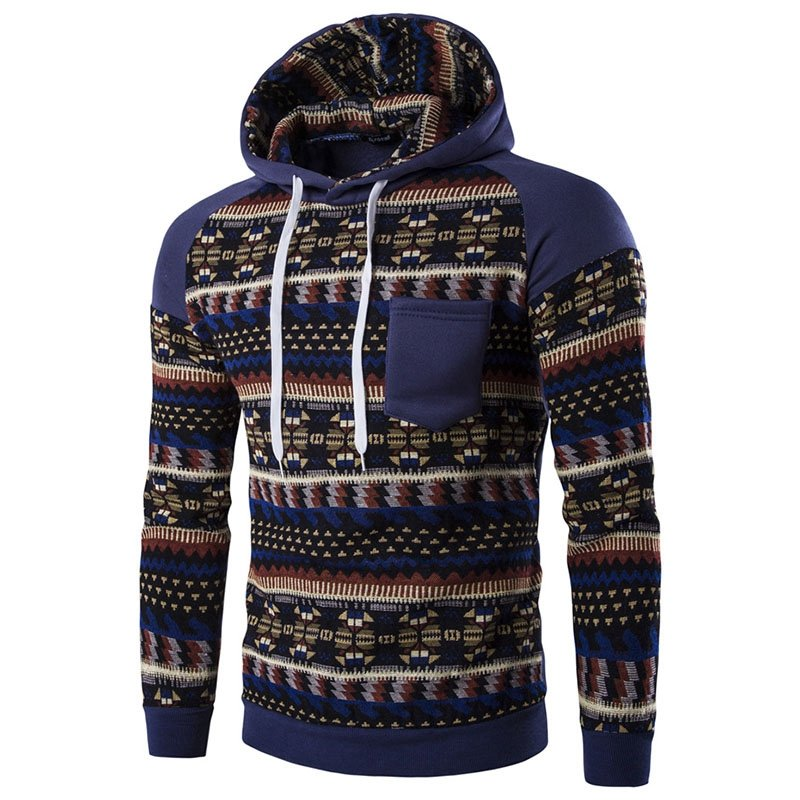 Fashion Men Casual Sweater Sweatshirts Coat Pullover Jacket Hooded Hoodies 2017
