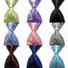 Silk Classic Paisley Mix Color Jacquard Woven Silk Men's Tie Necktie Exquisite