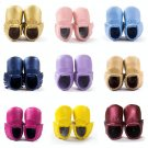 Kids Boy Girls Toddler Shoes Sole Leather Shoes Infant Tassel Moccasin Stylish *