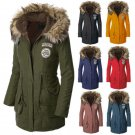 2017 Women's Fashion Warm Fur Collar Hooded Parka Winter  Down Coat Jacket Vogue