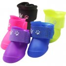 Waterproof Dog Foot Protective Rubber Pet Rain Shoes Boot Booties S M L Hot New