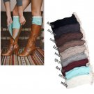 Women's Crochet Knitted Lace Trim Boot Cuffs Toppers Leg Thermal Socks New Warm