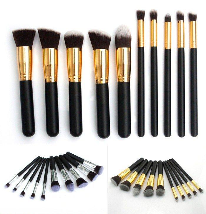 10 Pcs Professional Foundation Makeup Brush Set Eyeshadow Cosmetic Brush Simple