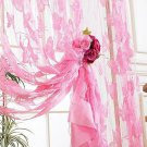 Drop Beaded String Door Window Curtains Divider Lace Curtains Room Flower Tassel
