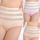 Women's Lace Solid High Abdomen Briefs Ladies Underwear Panties Knickers Fashion