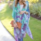 Women Boho Kimono Cardigan Chiffon Blouse Long Beach Cover Up Short Cosy Shirt