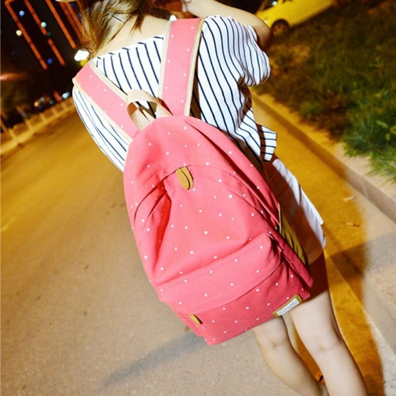 Women Canvas Travel Satchel Shoulder Bag Backpack School Rucksack P Top Hot Sale