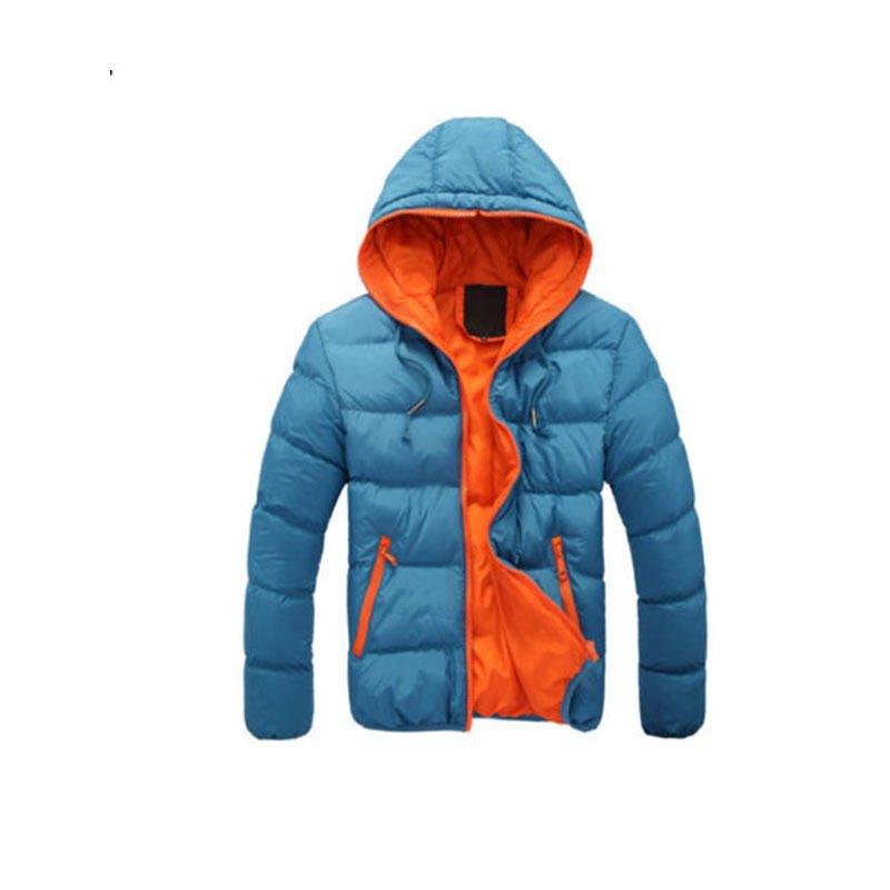 Men's Slim Casual Warm Jacket Hooded Winter Thick Coat Parka Overcoat Hoodie 15S