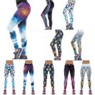 Women YOGA Workout Gym Print Sports Pants Leggings Fitness Stretch Trousers US