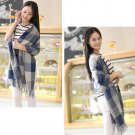 Women Winter Warm Soft Artificial Wool Scarf Plaid Knit Long Scarf Wrap Shawl US