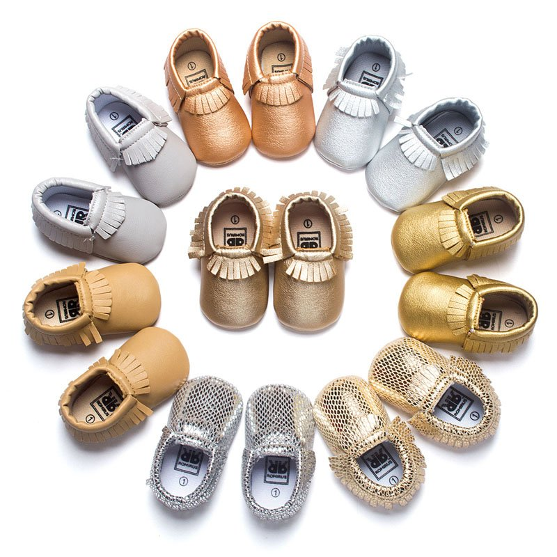 Baby Soft Sole Leather Shoes Toddler Infant Boy Girl Tassel Moccasin Fashion F30
