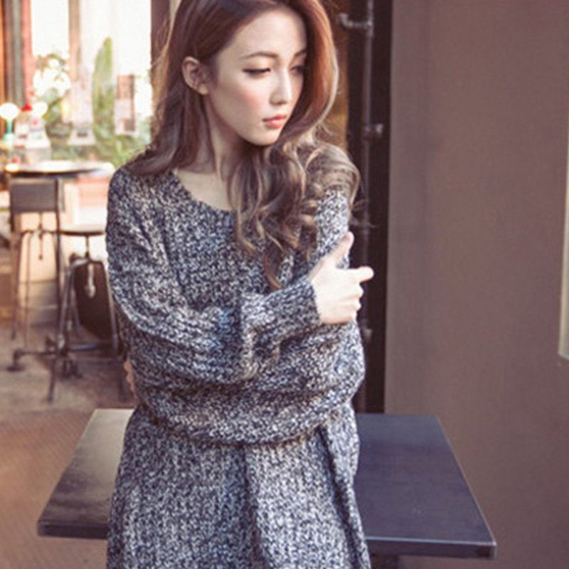 Women Oversized Batwing Sleeve Knitted Sweater Loose Cardigan Outwear Coat 2017