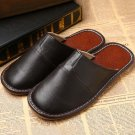 PU Leather Home Slippers Slip On Shoes Sandal Mules Design Hand Made Plus Size L