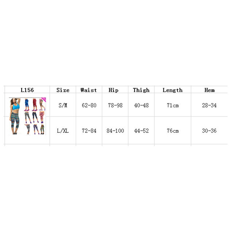 Waist Fitness Yoga Sport Pants Women Running Gym Stretch 3/4 Leggings Resilient