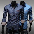 2016 TOP Fashion Men Wash Jeans Shirts Slim Fit Vintage Denim Casual Stylish Hot