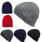 2017 NEW Women Men Winter Ski Knit Crochet Baggy Beanie Hats Cuffless Caps Beret