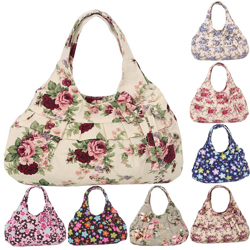 Women Canvas Tote Shoulder Messenger Lady Handbag Hobo Small Bag Fashion Cool