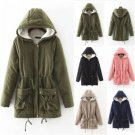 2017 Womens Thicken Warm Winter Coat Hood Parka Overcoat Long Jacket Outwear New