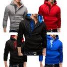 Men's Slim Warm Hooded Sweatshirt Zipper Coat Jacket Outwear Sweater Super