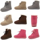 2016 LADIES FAUX SUEDE GRIP SOLE WINTER MARTIN ANKLE WOMENS BOOTS TRAINERS SHOES