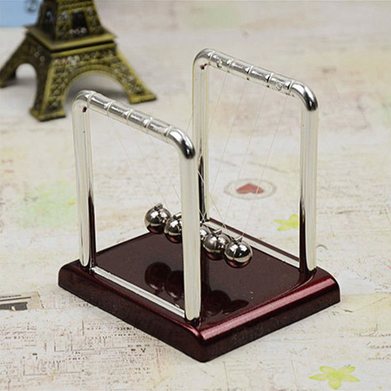 Newtons Cradle Balance Balls Kinetic Executive Physics Science Toy Hot Cheap New