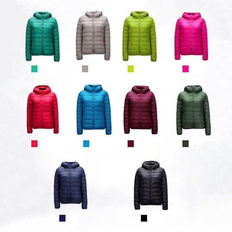 Lady Womens Outerwear Ultralight Hooded Down Parka Winter Coats Short Jacket USA