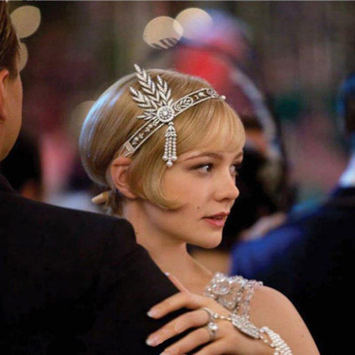 Bridal Great Gatsby 1920s 1:1 Headpiece Pearls Charleston Headband Top Hot Cheap