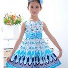 GIRLS-PARTY FLORAL KIDS-PLAIN DRESSING SKATER-DRESS FLARED BELTED DRESS LATEST