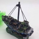 Galleon Shipwreck with Sails Fish Tank Cave Decoration Aquarium Ornament 13 Home