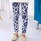 Kids Toddler Girls Leggings Pants Floral Printed Trousers Size 3-7Y LL