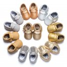 Top Baby Soft Sole Leather Shoes Toddler Infant Boy Girl Tassel Moccasin 2016 US