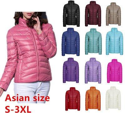 Yinglan's Style Women Ultralight Down Puffer Jacket Coat Outwear Packable S-3XL