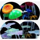 Aquarium fish tank decoration ornament soft fluorescence colors mushroom Leaf