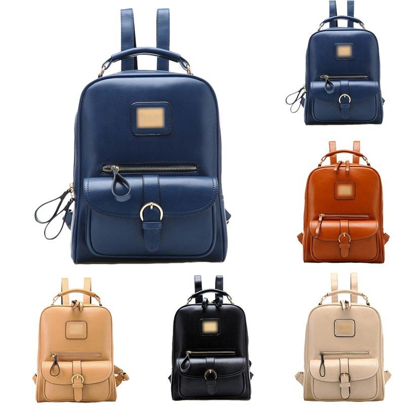Lady Girl Travel Satchel Shoulders Backpack School Rucksack Black Book Bags Cool