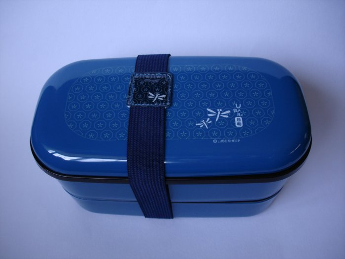 Blue Dragonfly 2 Tier Bento Box