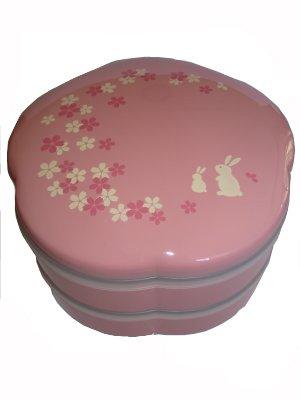 2 Tier Family Size Pink Sakura Bento Box