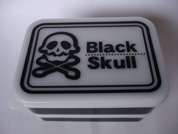 Black Skull Design 2 Tier Bento Box