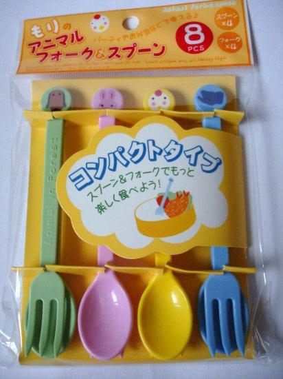 8  Piece Bento Fork/Spoon Set, Animal Designs