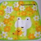 San-X Tsugihikerori White Frog Flower Oshibori