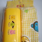 Cute Bento Oshibori and Case Set, Yellow