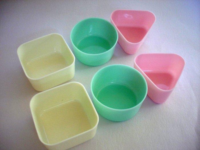 6 Reusable Pastel Bento Cups