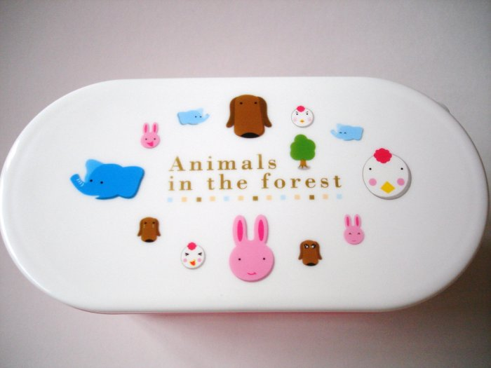 Animals in the Forest 2 Tier Bento Box