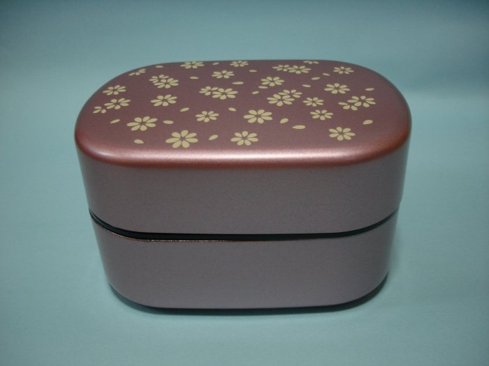 Lavender Flower Design 2 Tier Bento Box